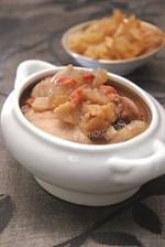 Fish Maw with Shark's Fin Bone Chicken Soup Recipe 花胶鲨鱼骨炖鸡汤食谱