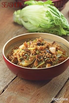 Mustard Green Rice Recipe 芥菜饭食谱
