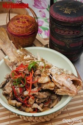 Deep Fried Garoupa Recipe 干烧石斑食谱