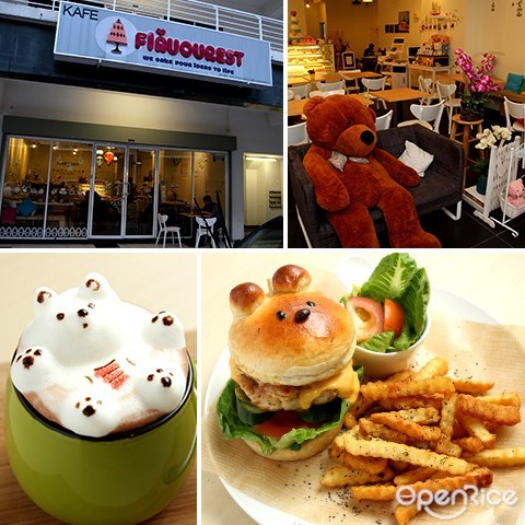best restaurant, flavourest, kelana jaya, pj, cafe, teddy bear