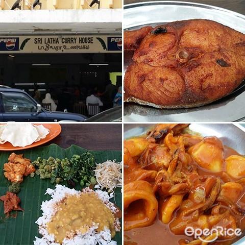 Sri Latha Curry House, Curry mutton, chicken curry, banana leaf rice, Kota kinabalu, sabah