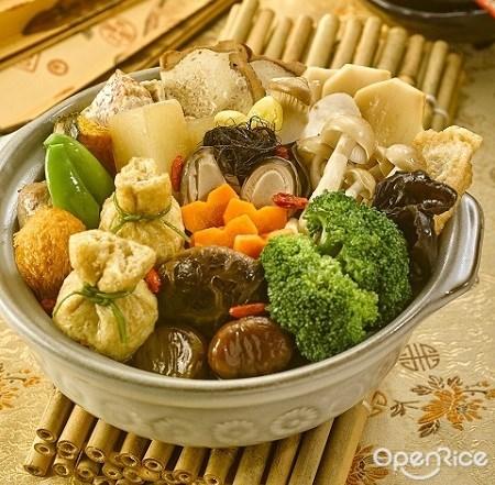 vegetarian restaurant, organic, simple life, shopping mall, poon choi