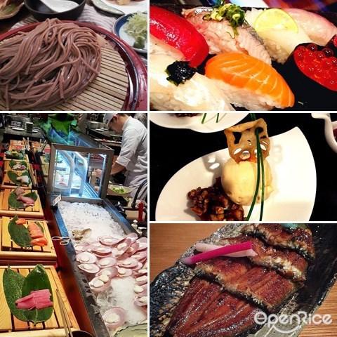 zipangu, buffet, japanese, sashimi, sushi, shangri-la hotel, tempura, matcha, mochi