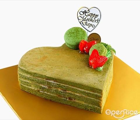 Nadeje, Crepe cake, Mille crepe, Parents day, heart shaped cake, KL, PJ