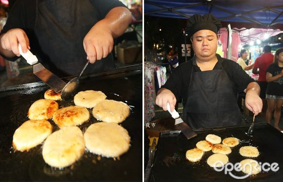 蘑菇包, 流沙包, mushroom bun, taman connaught, cheras, night market, 康乐夜市