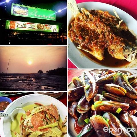 kuala selangor, 瓜拉雪兰莪, food, 美食, 必吃, 推荐, seafood, ikan bakar, 海鲜
