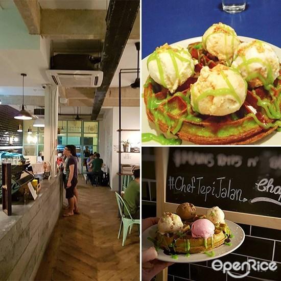 Chaplang Kafe, OUG, Waffle, Ice Cream