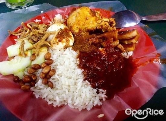 kepong baru,nasi lemak,椰浆饭,jalan antoi,甲洞