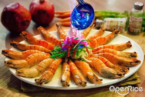 OpenRice Malaysia, Chicago Rib House, Drunken Prawns, Chinese New Year, Yee Sang, Signature Platter, mocktail, baby back ribs