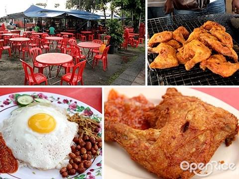 fried chicken, mamak, persiaran mergastua, dai shu tow, nasi lemak