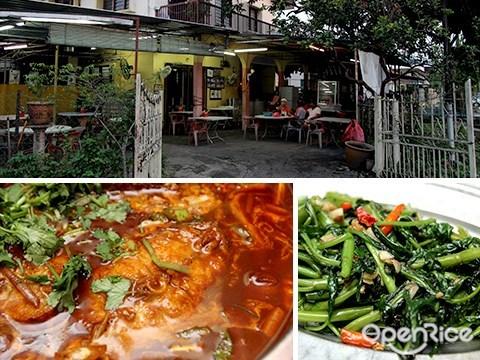 bangkok tom yam, pj old town, tom yam fish head
