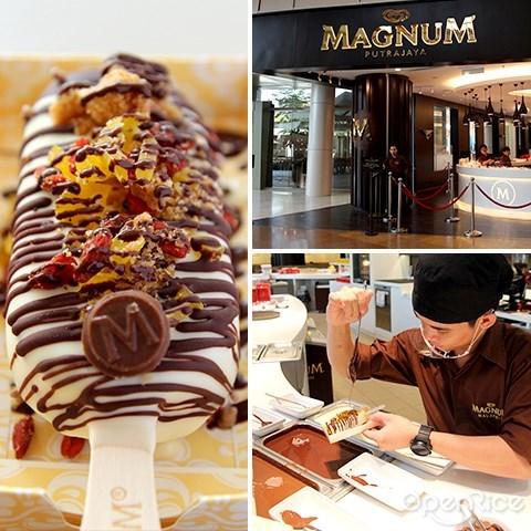 magnum, ice cream, ioi city mall, putrajaya