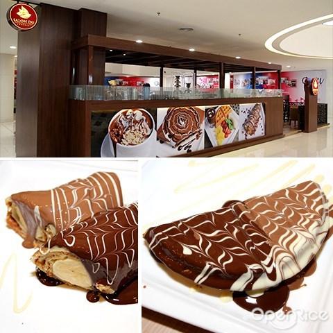 巧克力, 甜点, salon du chocolate, chocolate crepe, dessert, quill city mall, jalan sultan ismail, medan tuanku