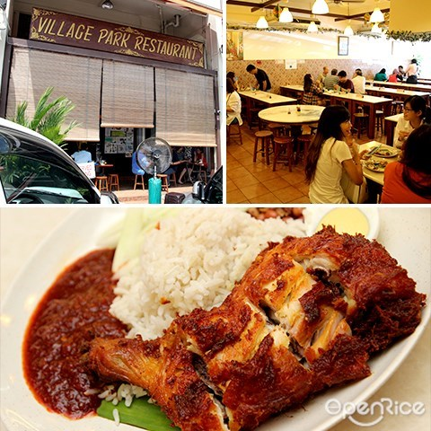 village park, nasi lemak, cheap food, pj, fried chicken