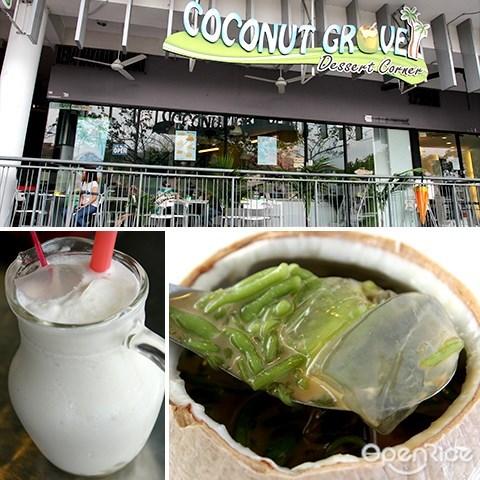 coconut grove, coconut jelly, bandar utama, pj, cendol