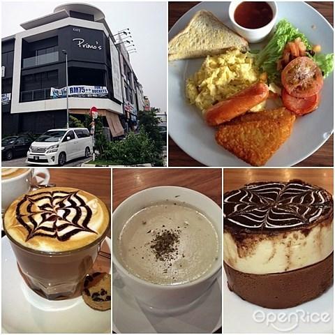 Primo's Cafe, Spaghetti, The Gentleman's Breakfast, Brunch, Gathering, Mahkota Cheras