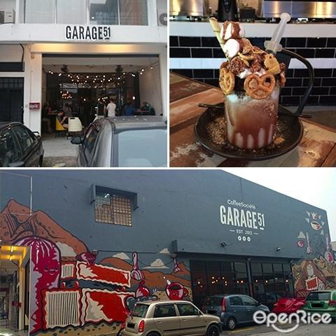 Garage 51, Messed Up Family, Milkshakes, Mochatella, Industrial Cafe