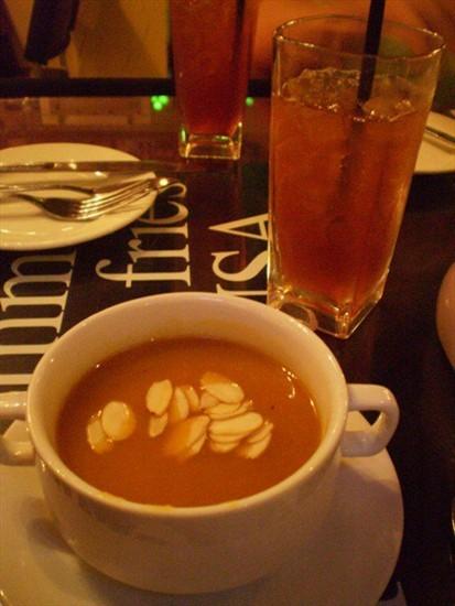 Aromatic Pumpkiun Soup with Almond Flakes